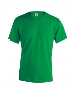 Снимка към продукта зелена мъжка памучна тениска за работа с къс ръкав.