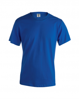 Снимка към продукта кралско синя мъжка памучна тениска за работа с къс ръкав.