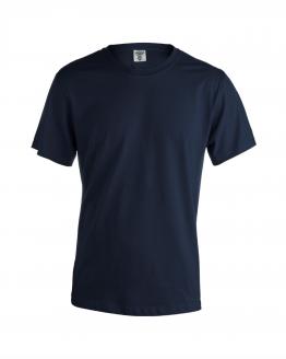 Снимка към продукта тъмно синямъжка памучна тениска за работа с къс ръкав.