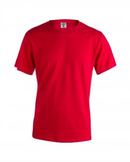 Снимка към продукта червена мъжка памучна тениска за работа с къс ръкав.