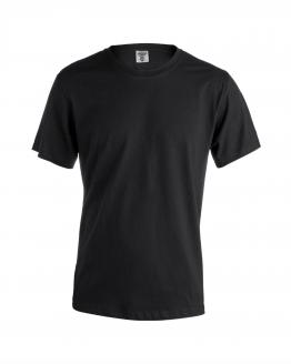 Снимка към продукта черна мъжка памучна тениска за работа с къс ръкав.