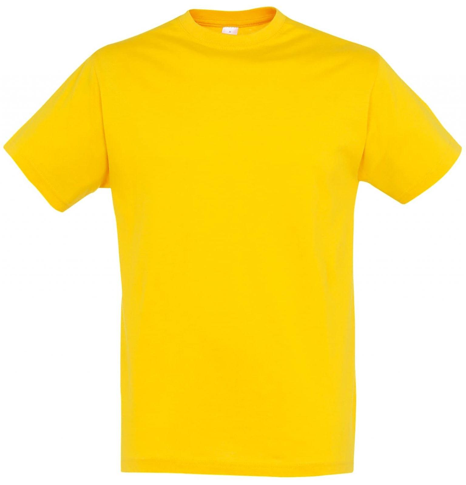 памучни тениски жълта