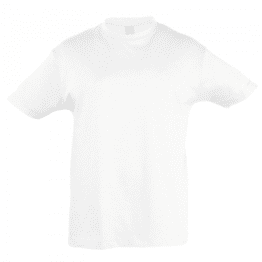 детски памучни тениски бяла