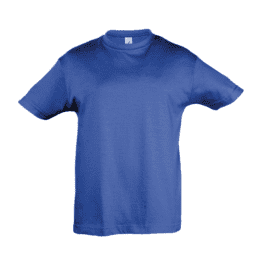 детски памучни тениски кралско синя