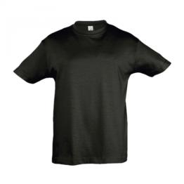 детски памучни тениски черна