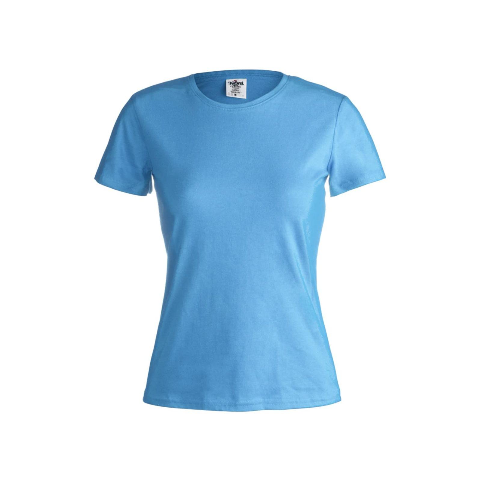 дамски памучни тениски светло синя